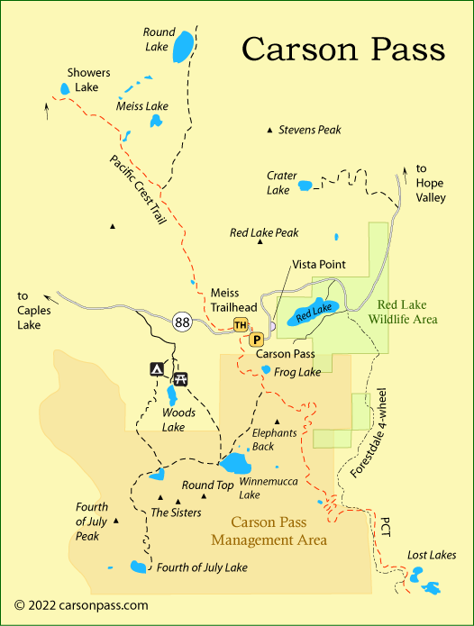map of  Carson Pass, CA