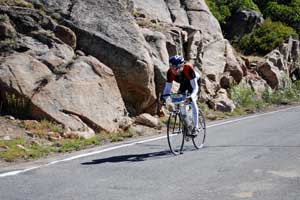 Photo of cyclist