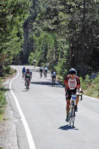 Photo of cyclists on Death Ride